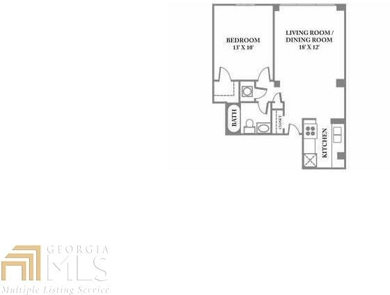 1 Bedroom, Midtown Rental in Atlanta, GA for $1,325 - Photo 2