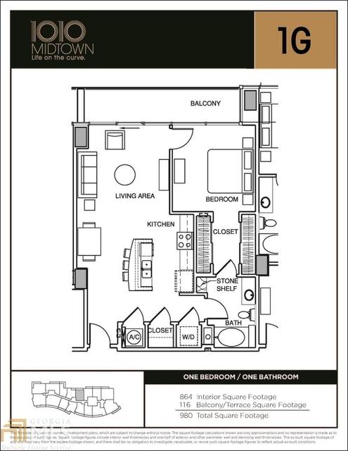 1 Bedroom, Midtown Rental in Atlanta, GA for $2,250 - Photo 2
