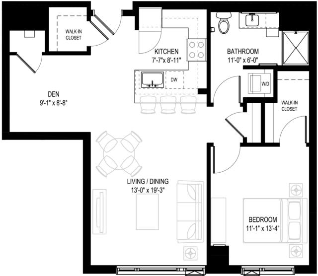 1 Bedroom, Central Maverick Square - Paris Street Rental in Boston, MA for $3,414 - Photo 1