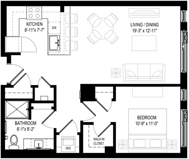 1 Bedroom, Central Maverick Square - Paris Street Rental in Boston, MA for $2,969 - Photo 1