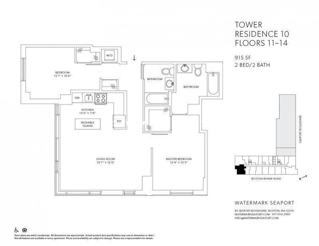 2 Bedrooms, Seaport District Rental in Boston, MA for $4,750 - Photo 1