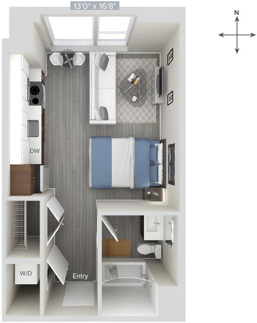 Studio, Downtown Boston Rental in Boston, MA for $2,985 - Photo 1