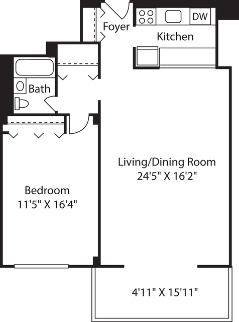 1 Bedroom, Downtown Boston Rental in Boston, MA for $2,790 - Photo 1