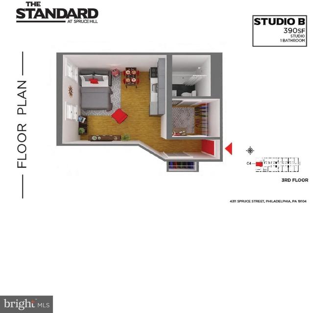 Studio, Spruce Hill Rental in Philadelphia, PA for $1,150 - Photo 2