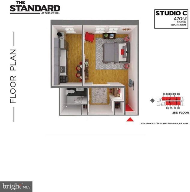 Studio, Spruce Hill Rental in Philadelphia, PA for $1,250 - Photo 2