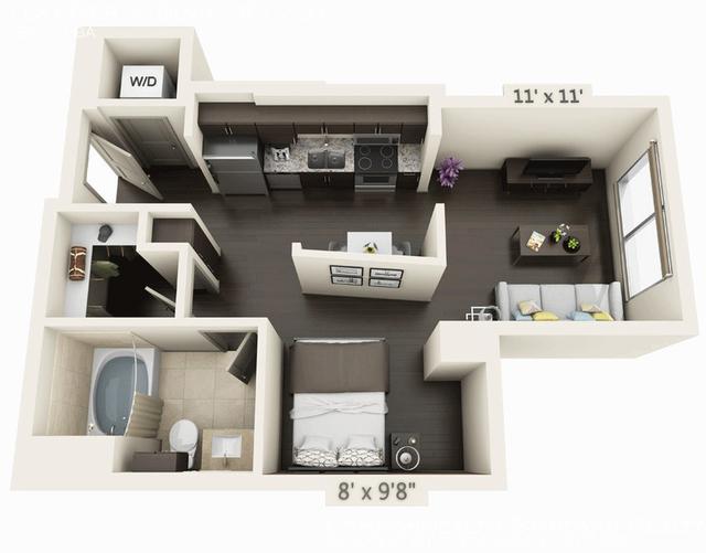 Studio, Seaport District Rental in Boston, MA for $3,295 - Photo 1