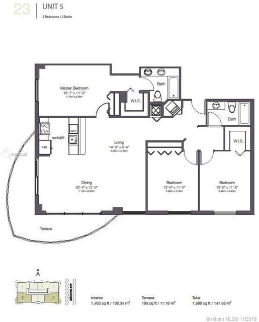 3 Bedrooms, Shorelawn Rental in Miami, FL for $2,800 - Photo 2