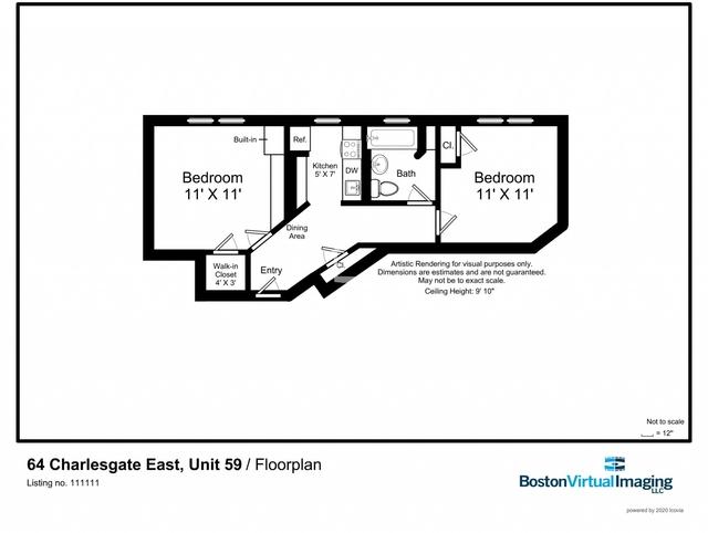 1 Bedroom, Fenway Rental in Boston, MA for $3,000 - Photo 2