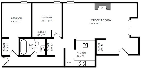 2 Bedrooms, Ranch Triangle Rental in Chicago, IL for $2,392 - Photo 1