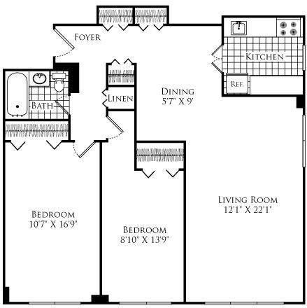 2 Bedrooms, Neighborhood Nine Rental in Boston, MA for $2,765 - Photo 1