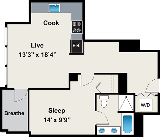1 Bedroom, Near West Side Rental in Chicago, IL for $2,135 - Photo 1