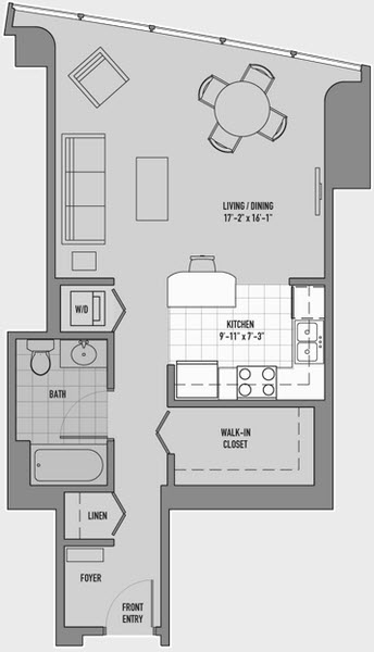 Studio, Gold Coast Rental in Chicago, IL for $1,892 - Photo 1
