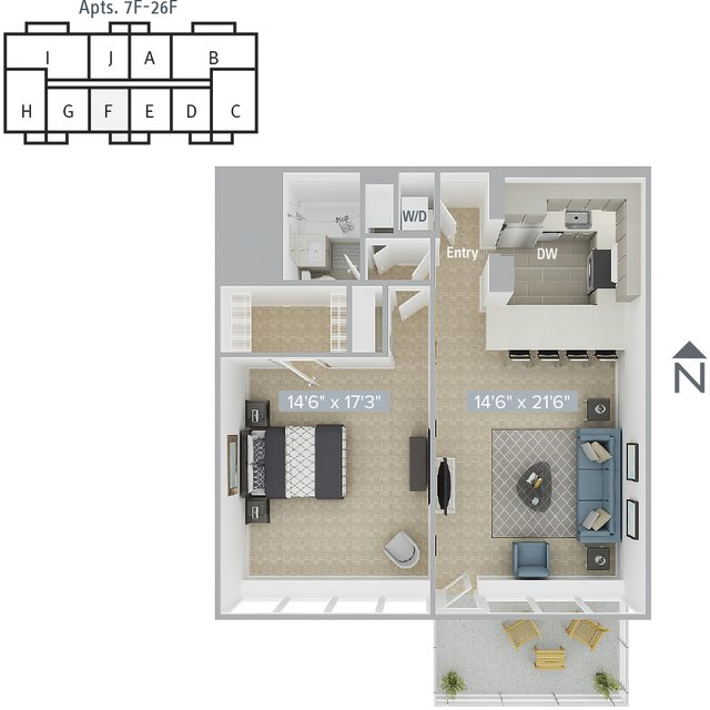 1 Bedroom, Prudential - St. Botolph Rental in Boston, MA for $3,960 - Photo 1