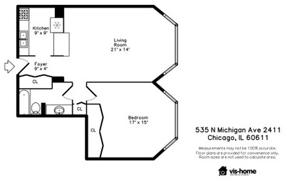 1 Bedroom, Magnificent Mile Rental in Chicago, IL for $1,875 - Photo 2