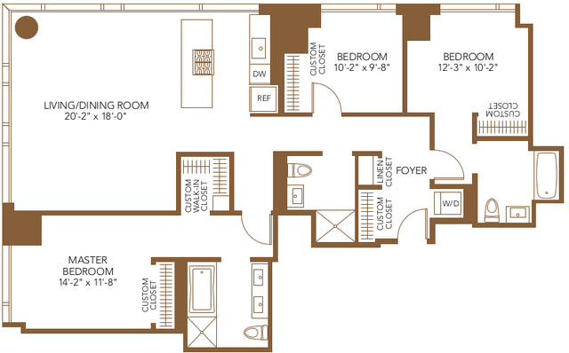 3 Bedrooms, The Loop Rental in Chicago, IL for $6,552 - Photo 1