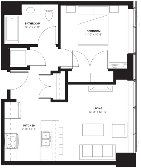 1 Bedroom, Evanston Rental in Chicago, IL for $2,485 - Photo 2