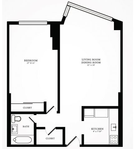 1 Bedroom, Gold Coast Rental in Chicago, IL for $1,573 - Photo 1