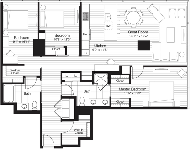 3 Bedrooms, Streeterville Rental in Chicago, IL for $6,060 - Photo 1