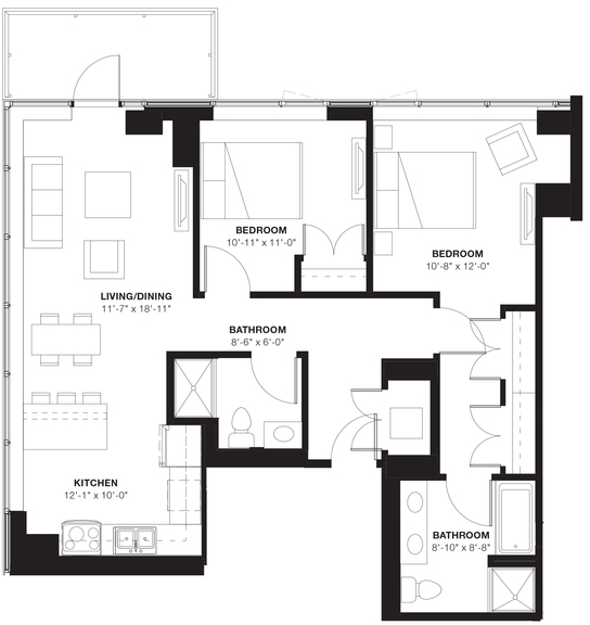 2 Bedrooms, Evanston Rental in Chicago, IL for $3,063 - Photo 2