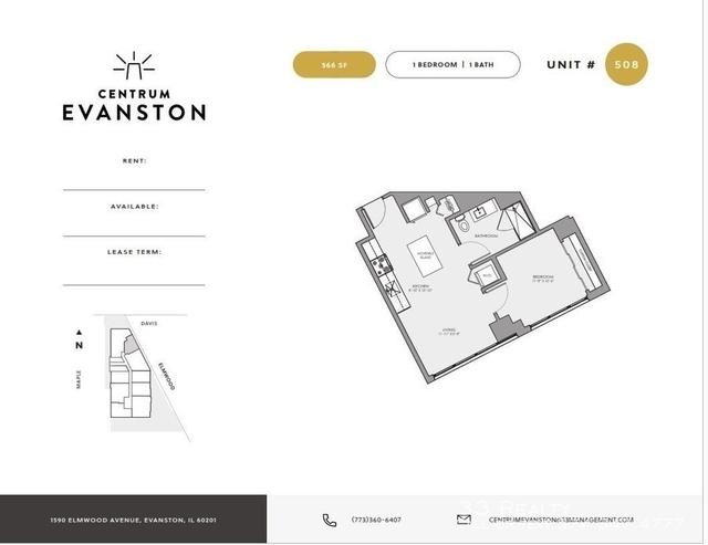 Studio, Evanston Rental in Chicago, IL for $2,000 - Photo 1