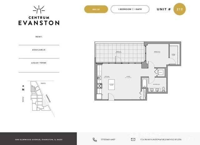 1 Bedroom, Evanston Rental in Chicago, IL for $2,380 - Photo 2
