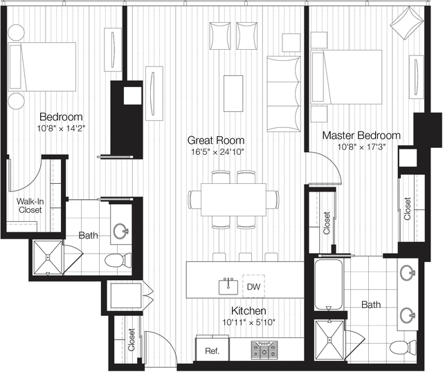 2 Bedrooms, Streeterville Rental in Chicago, IL for $4,540 - Photo 1
