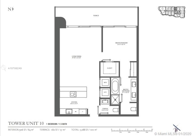 1 Bedroom, Miami Financial District Rental in Miami, FL for $3,150 - Photo 2
