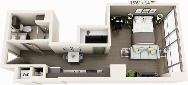 Studio, Seaport District Rental in Boston, MA for $2,664 - Photo 1