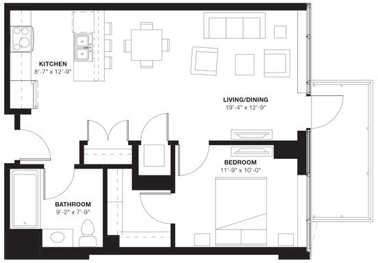 1 Bedroom, Evanston Rental in Chicago, IL for $2,346 - Photo 1