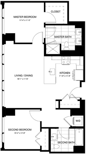 2 Bedrooms, Shawmut Rental in Boston, MA for $4,983 - Photo 2