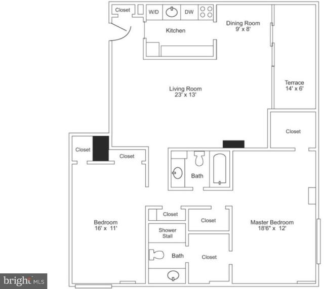1 Bedroom, Rittenhouse Square Rental in Philadelphia, PA for $2,157 - Photo 2