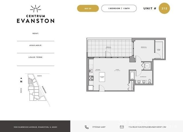 Studio, Evanston Rental in Chicago, IL for $2,155 - Photo 2