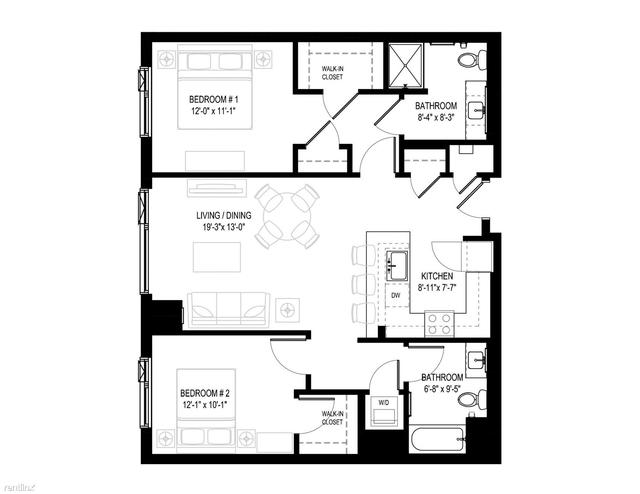 2 Bedrooms, Central Maverick Square - Paris Street Rental in Boston, MA for $3,663 - Photo 2