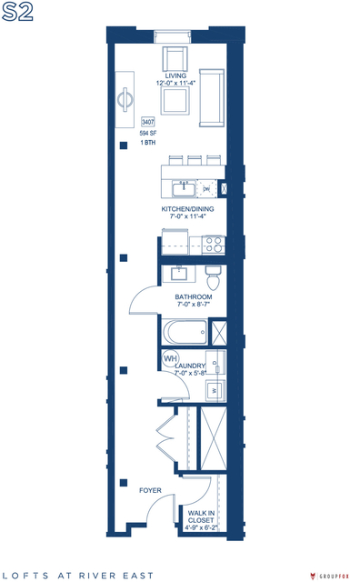 Studio, Streeterville Rental in Chicago, IL for $2,065 - Photo 1