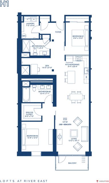 2 Bedrooms, Streeterville Rental in Chicago, IL for $4,720 - Photo 1