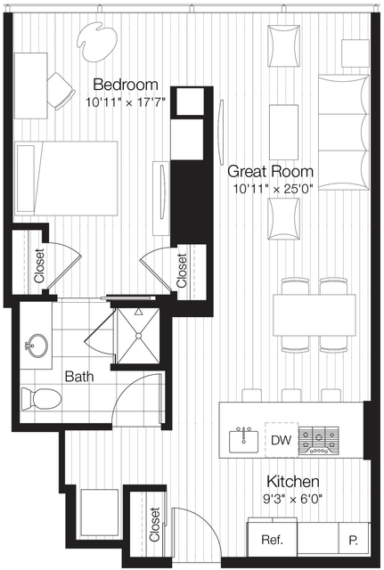 1 Bedroom, Streeterville Rental in Chicago, IL for $2,840 - Photo 1