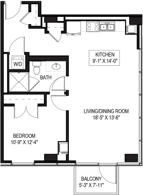 1 Bedroom, Greektown Rental in Chicago, IL for $2,225 - Photo 1