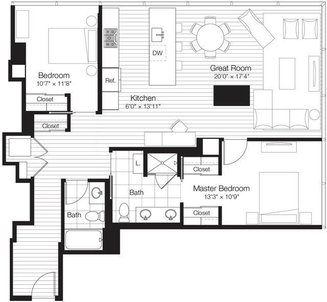 2 Bedrooms, Streeterville Rental in Chicago, IL for $4,035 - Photo 1