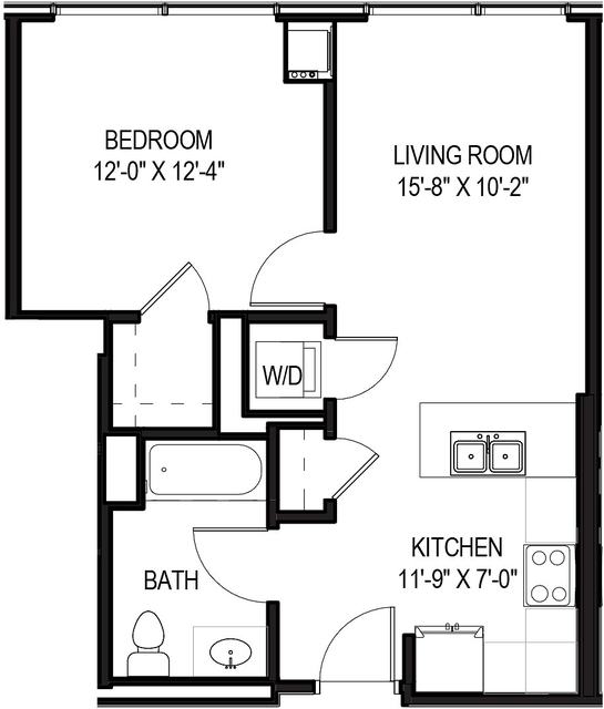 1 Bedroom, Greektown Rental in Chicago, IL for $2,396 - Photo 1