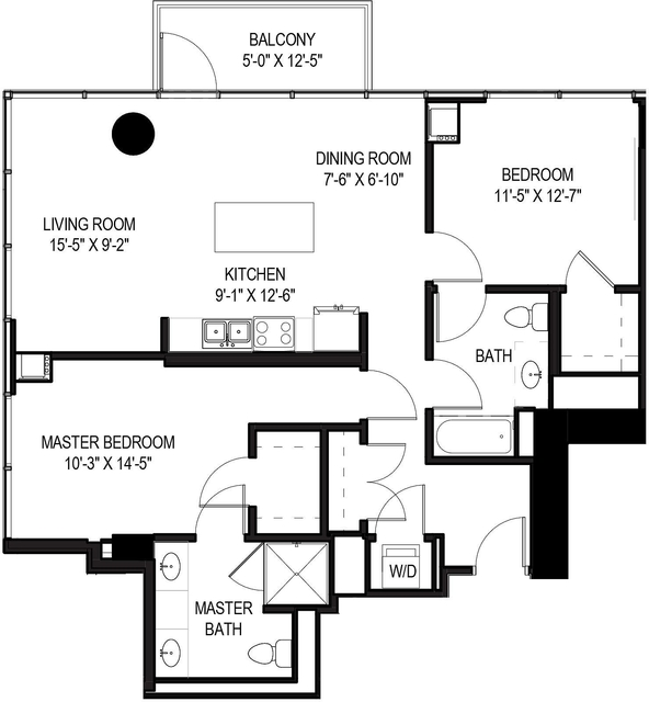 2 Bedrooms, Greektown Rental in Chicago, IL for $3,210 - Photo 1