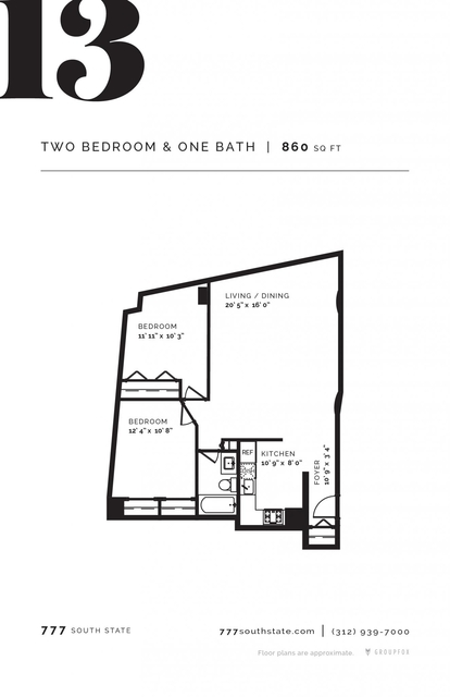 2 Bedrooms, South Loop Rental in Chicago, IL for $2,430 - Photo 2