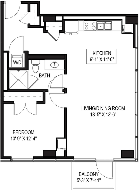 1 Bedroom, Greektown Rental in Chicago, IL for $2,383 - Photo 1