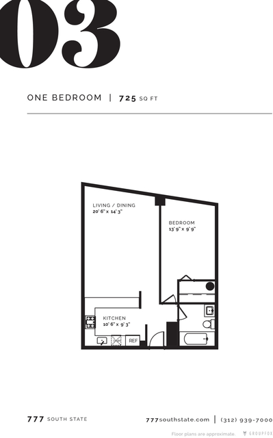 1 Bedroom, South Loop Rental in Chicago, IL for $1,965 - Photo 2