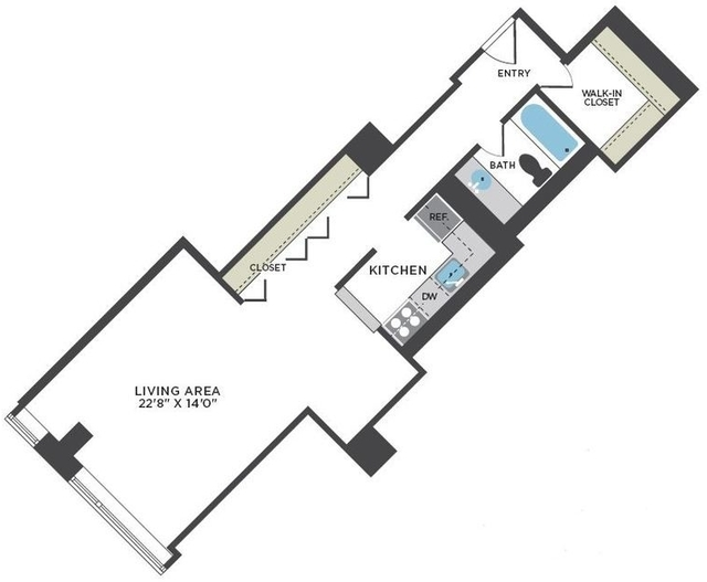 Studio, Streeterville Rental in Chicago, IL for $1,712 - Photo 2