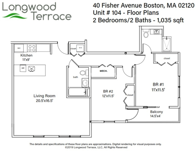 2 Bedrooms, Mission Hill Rental in Boston, MA for $3,700 - Photo 2