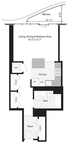 Studio, Near East Side Rental in Chicago, IL for $2,019 - Photo 2