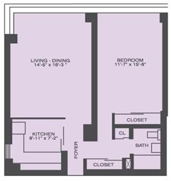 1 Bedroom, Prairie Shores Rental in Chicago, IL for $1,304 - Photo 1