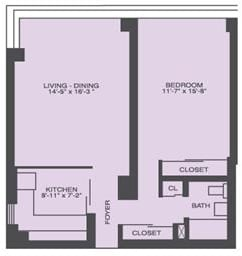 1 Bedroom, Prairie Shores Rental in Chicago, IL for $1,257 - Photo 1