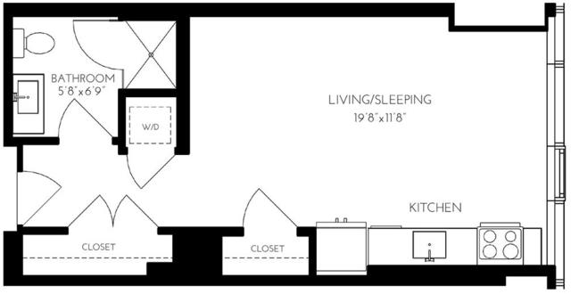 Studio, Seaport District Rental in Boston, MA for $3,243 - Photo 1