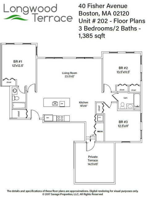 3 Bedrooms, Mission Hill Rental in Boston, MA for $4,700 - Photo 2